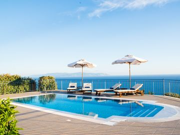 Boundless Sea & Mountain Views with a Private Swimming Pool - Villa Odysseus