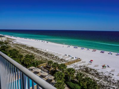 Photo for Gulf Front 2000sqf Condo, Large Balcony, Private Beach & Pool, Free Beach Setup