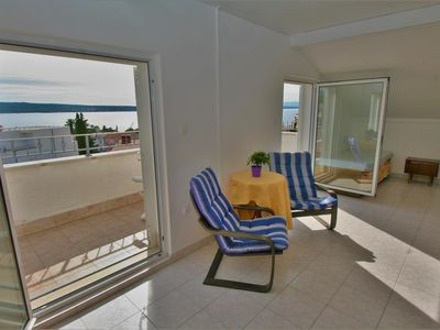 Photo for Two bedroom apartment with terrace and sea view Selce, Crikvenica (A-5481-d)