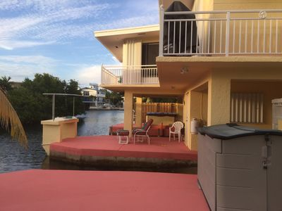 Photo for Canal Front Apartment Optional Boat Slip/ramp use