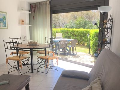 Photo for Lovely big studio 35 m² with nice decoration 80 meters from the beach