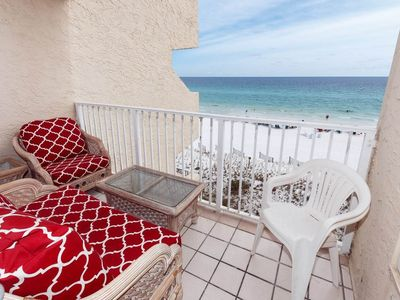 Photo for Gulf Front condo On Okaloosa Island w/ water views and shared pool!