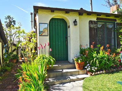 Photo for Charming Green Cottage blocks to Beach and Village