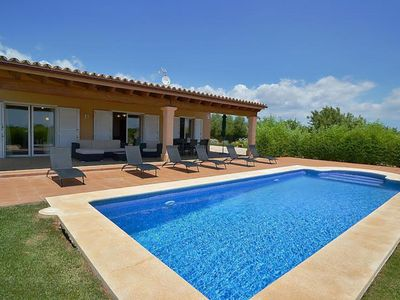 Photo for Modern rustic house with pool and air conditioning on the outskirts of Binisalem