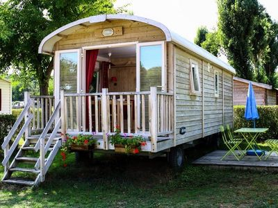 Photo for Camping La Promenade *** - Trailer Comfort Plus 3 Rooms 4 People