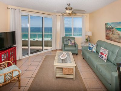 Photo for PET FRIENDLY Gulf-front 2BR/2BA, Slps 7, WiFi, W/D, Pool, Free Activities - Silver Beach 503