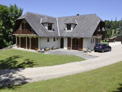 Photo for 5 bedroom chalet to rent with private pool and tennis court in the Pyrenees