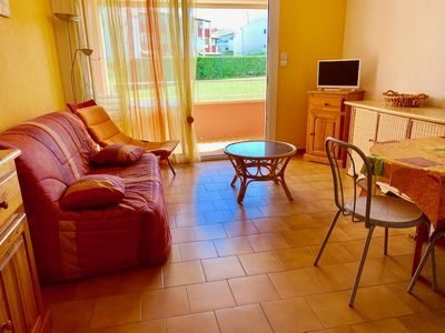 Photo for SPACIEUX STUDIO CAB FOR 4 PERSONS IN RESIDENCE WITH SWIMMING POOL, 20M FROM THE SEA - CAP D'AGDE...