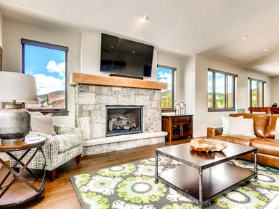 Photo for Newly Listed! Enjoy big mountain views, private hot tub & excellent location!