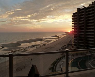 Sunset view from the balcony in August