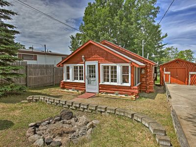 Photo for Rustic Cabin Steps to Houghton Lake & Boat Launch!