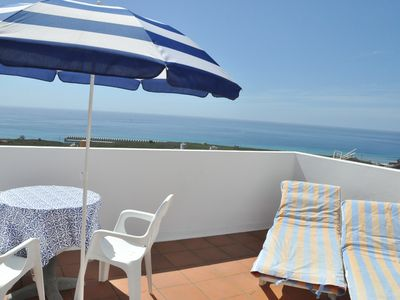 Photo for Roomy holiday house with two rooftop terraces on the sunniest spot on the island