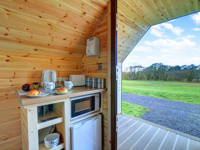 Photo for 'Cwtch' meaning 'cuddle' in Welsh is a lovely little glamping pod set in fantastic countryside, so i