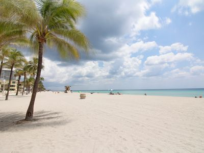 Photo for Waterfront condo w/ garden oasis - steps to Hollywood Beach! Snowbirds welcome!