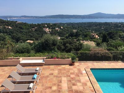Photo for Dominant sea view on the Gulf of St Tropez