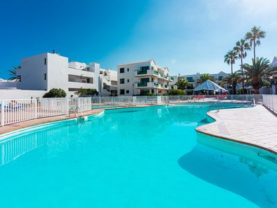 Photo for Paradise beach - fabulous studio in compl w/pool by the sea in Costa Teguise