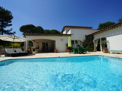 Photo for THE VILLA - heated swimming pool - air conditioning - calm - space
