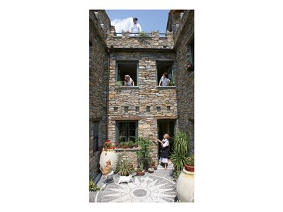 Photo for Apartments in the stone house, with garden, sunny, a few km from Alassio