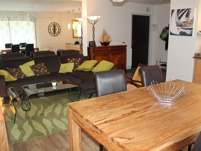 Photo for Beautiful apartment with garden, 100m from the beach