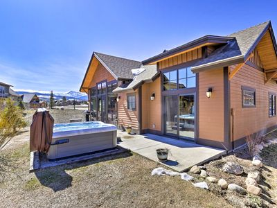 Photo for Mtn-View Fraser Home w/ Hot Tub - Near Skiing!