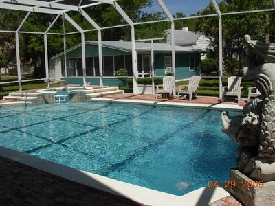 Pool, Jacuzzi and Carriage House.