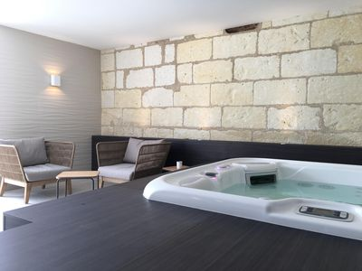 "Photo for Domaine du Pin, independent holiday home 5 persons ""SPA Jacuzzi Privé"""