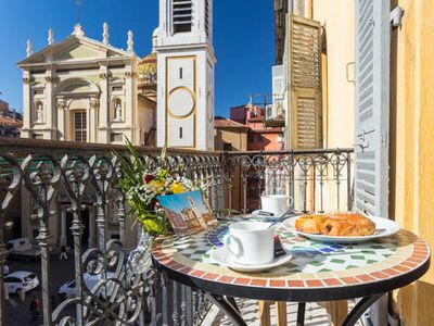 Photo for SPLENDID APARTMENT, LONG BALCONY, AIR CONDITIONING, WIFI,  HEART OLD TOWN NICE