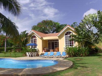 Photo for Caribbean Villa with tropical garden and private pool  ingated community