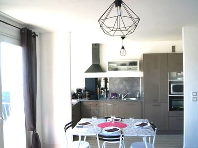 Photo for Apartment 5 pers, balcony, courtyard, garage, bicycles - 100m beach