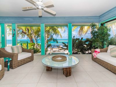 Photo for Fingertip: Gorgeous Waterfront Villa in Cayman Kai w/Private Beachfront!