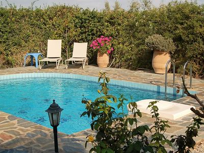 Photo for Beautiful luxury villa, private pool, privacy, near village Loutra on NW coast