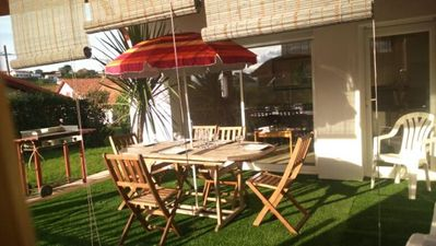 Photo for beach walk, lovely villa with terrace and peaceful garden. pool access.