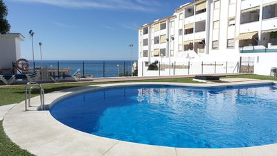 Photo for Relaxing location, Fantastic mountain + sea views, big pool/large sunny gardens