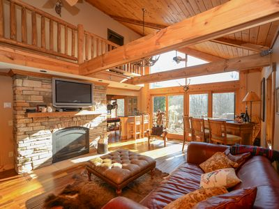 Photo for Great Mountain Lodge with Ski Hill Views!