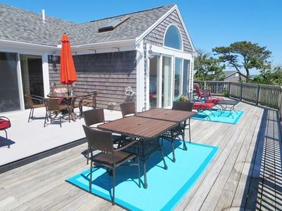 Multiple seating and lounging areas on the wrap around deck! - 19 Bob White Lane South Harwich Cape Cod New England Vacation Rentals
