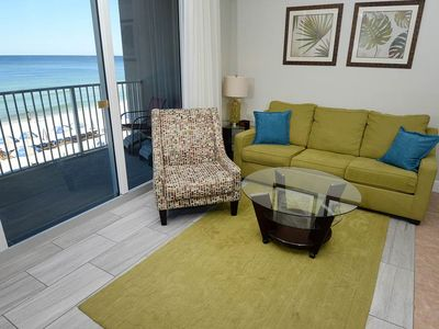 Photo for Picture-perfect gulf-front condo on Panama City Beach! Free beach service! Fitness center on-site!