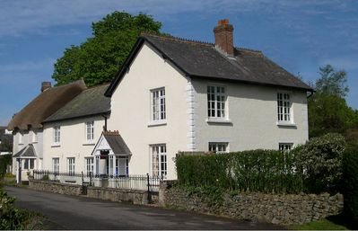 Photo for Spacious 5-bed period cottage with hot tub in North Devon village