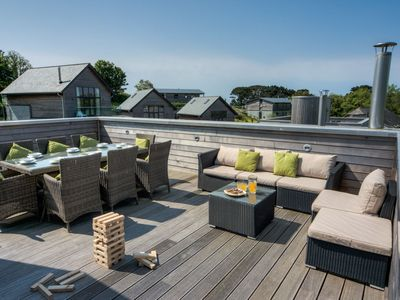Photo for Gorgeous home known as the Sky Deck due to its innovative design with large terrace on the roof allo