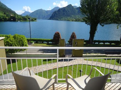 Photo for DIRECTLY ON THE LAKE with great views, pool, large garden and perfect location