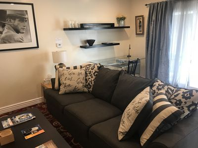 Living room with work space /desk