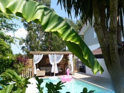 Photo for Contemporary house with private pool ideal family 7 sleeps 2 sdb