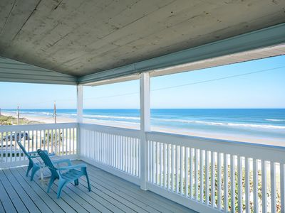 Photo for Huge, direct oceanfront 2 bedroom 2.5 bath home located on the car free beach.  6530S