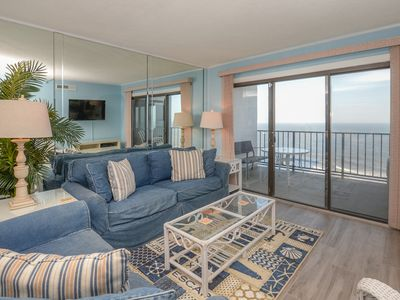 Photo for 2 bedroom and a den, 2 bath condo in the Plaza, with indoor and outdoor pool and oceanfront view