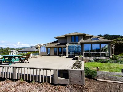 Photo for Luxury oceanfront house w/ stunning views, private hot tub & entertainment!