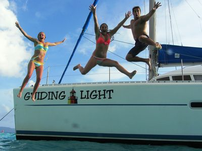 "Photo for ""Best vacation ever"" on a sailboat in the Caribbean aboard the Guiding Light"
