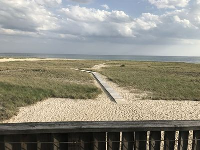 Photo for Beachfront Condo with Ocean Sunset Views - Close to Town