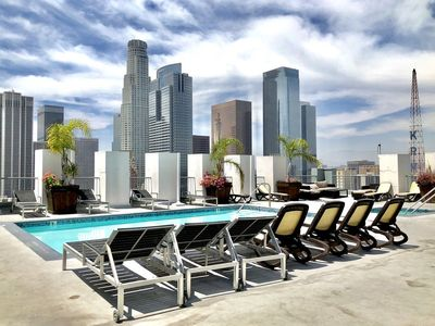 Photo for THE Perfect Stay! Chic DTLA 2BR Loft w/ Rooftop Pool & Jacuzzi