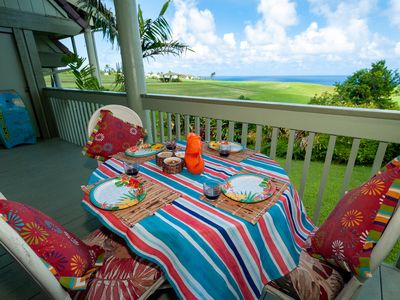 Photo for Puamana 16B-great ocean view, walk to Anini Beach,quiet complex