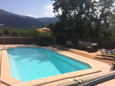 Photo for Villa with pool and superb views to Laroque des Albères!