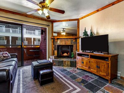 Photo for Ski-in/ski-out from this cozy studio w/ shared hot tub & pool